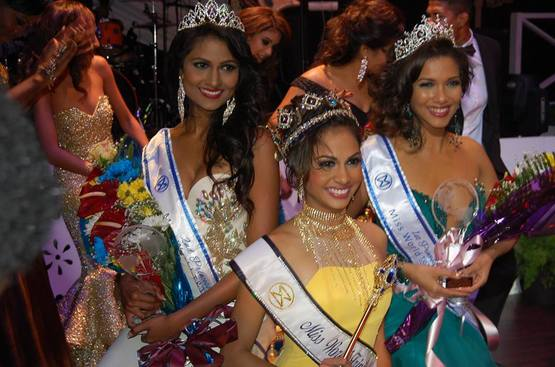 Miss World Trinidad and Tobago 2015 and her runners up