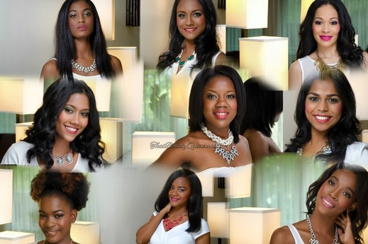 Tropical Beauties of Miss Suriname 2015