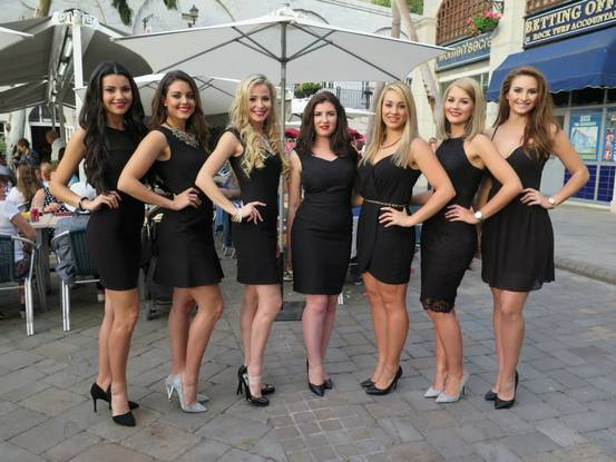 Finalists of Miss Gibraltar 2015