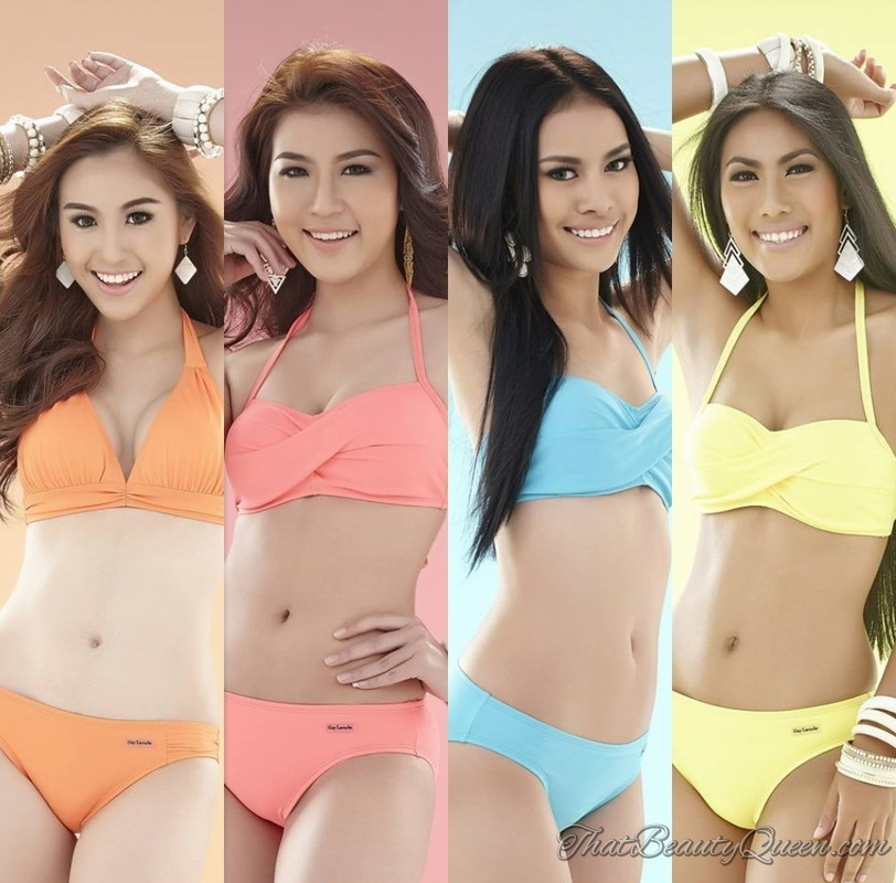 The contestants of the Miss Grand Thailand 2015