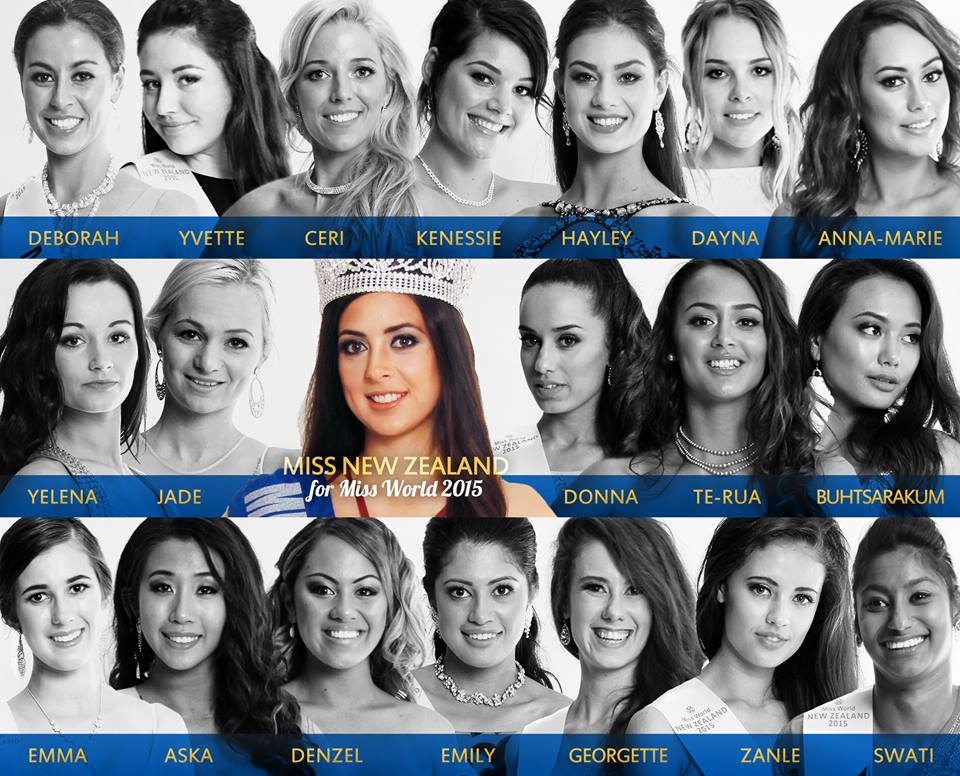 Miss World New Zealand 2015 finalists