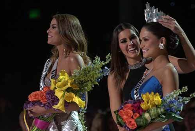 Miss Universe 2015 is Pia Alonzo Wurtzbach, First runner up Adriadna Guiterrez from Colombia