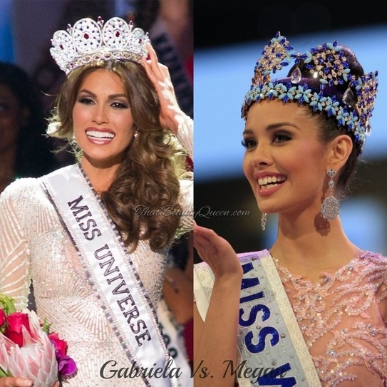 Gabriela Isler Mis Universe 2013 and Megan Young  Miss World 2013