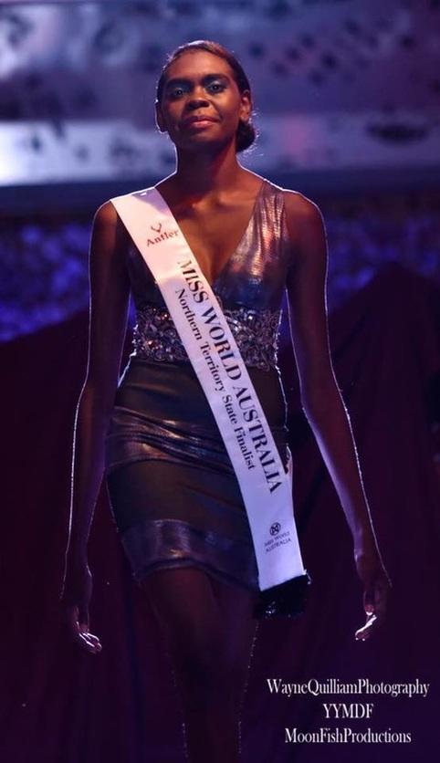 Finalist at the Miss World Australia  -  19-year-Old model, Maminydjama Magnolia Maymuru