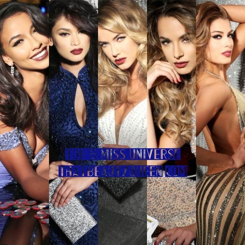 Miss Universe 2015 top 5 - USA, Philippines, France, Colombia and Australia