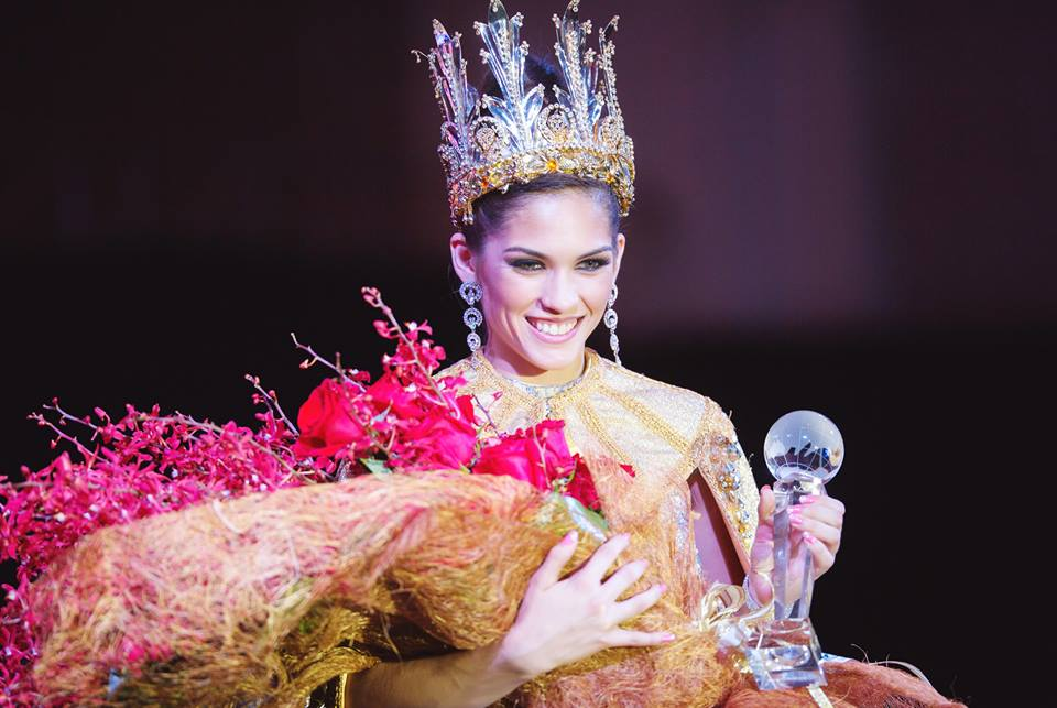 Miss World Guam  2015 Aria Perez-Theisen on the evening of her coronation