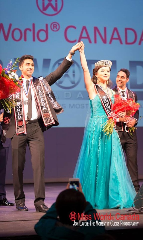 Mister World Canada 2015 - Jinder Atwal from Terrace, BC and Miss World Canada 2015 - Anastasia Lin from Toronto, ON