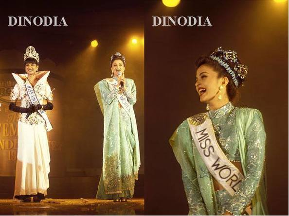 Sushmita Sen and Aishwarya Rai Bachan winner and first runner up at the 1995 Femina Miss India pageant which has become a lengendary moment in pageant