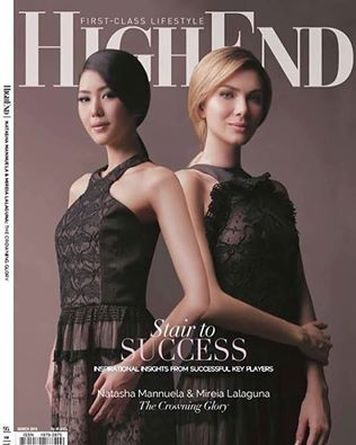 Miss World 2015 Mireia Lalaguna and Miss Indonesia, Natasha Mannuela on the cover of HighEnd  Magazine .