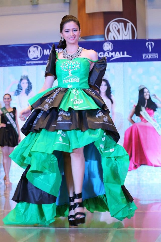 A contestant form the Miss Earth Philippines 2015