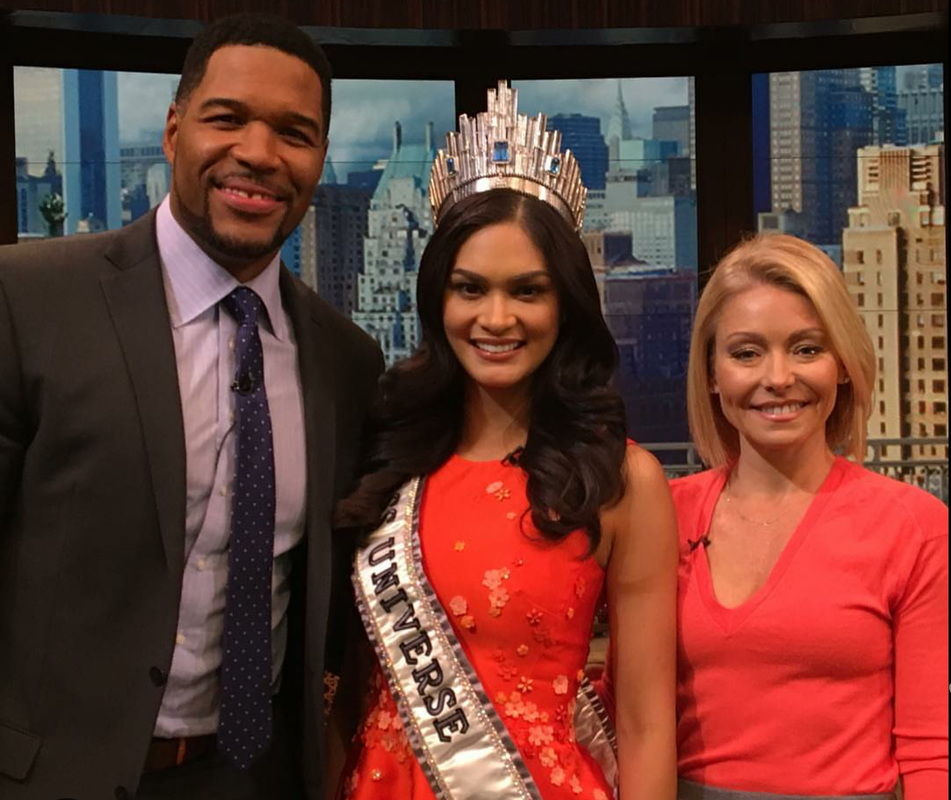 Pia Wurtzbach on Kelly and Micheal