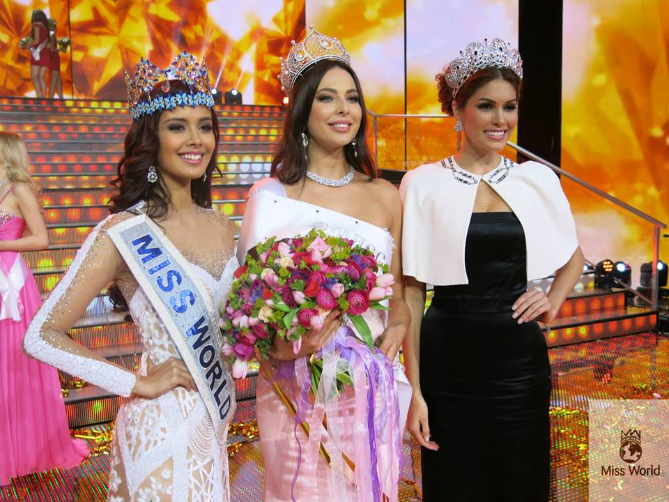 Yulia Alipova, Megan Young and Gabriela Isler