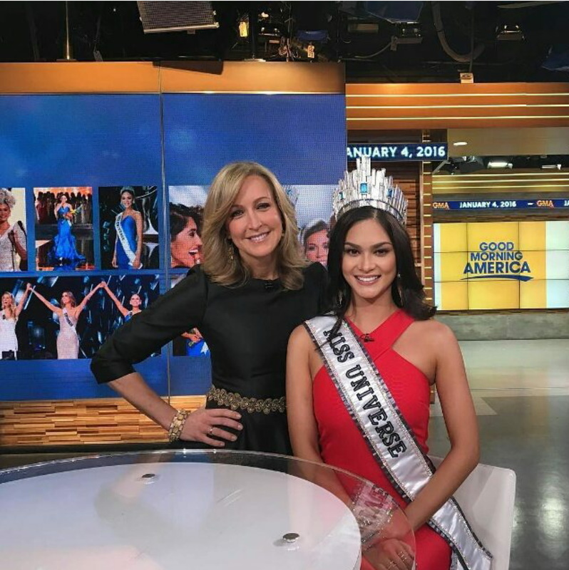 Pia Wutzbach with Good Morning America