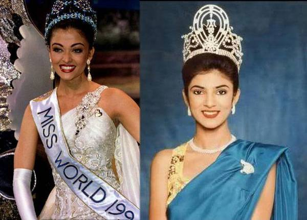 Sushmita Sen and Aishwarya Rai Bachan Miss Universe 1995 and Miss World 1995