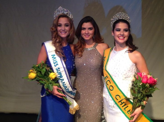 Valentina Schnitzer Our New Miss SupranationalChile 2015 and to Nicole Scott, Miss Eco Chile 2015!
