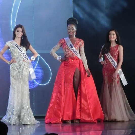 The Top 3 Finalists at Miss International Queen 2015