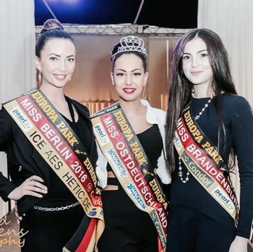 The of the finalists in the running for the title of Miss Germany 2016   Miss Berlin, Miss Deutschland and Miss Brandenburg.