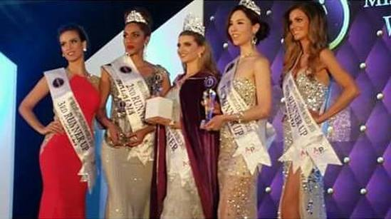 Miss Cosmopolitan World 2015 winners - Winner- NEW ZEALAND (Rachel Adele) 1st RU- KOREA (Monique Song) 2nd RU- MALAYSIA (Kohinoor Kaur) 3rd RU- CROATIA (Andrea Ankovic) 4th RU- ENGLAND (Rebecca Boggiano