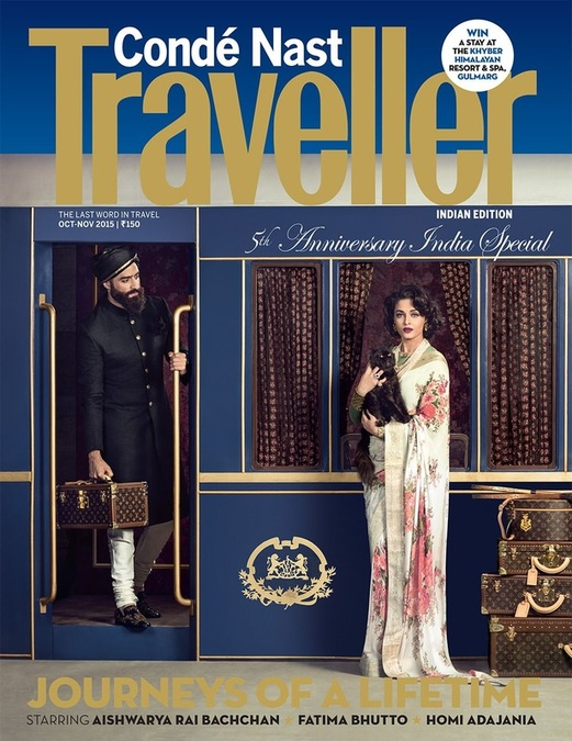 Aishwarya Rai Bachan for Conde Nast Traveller with  Rouhallah Quazim,