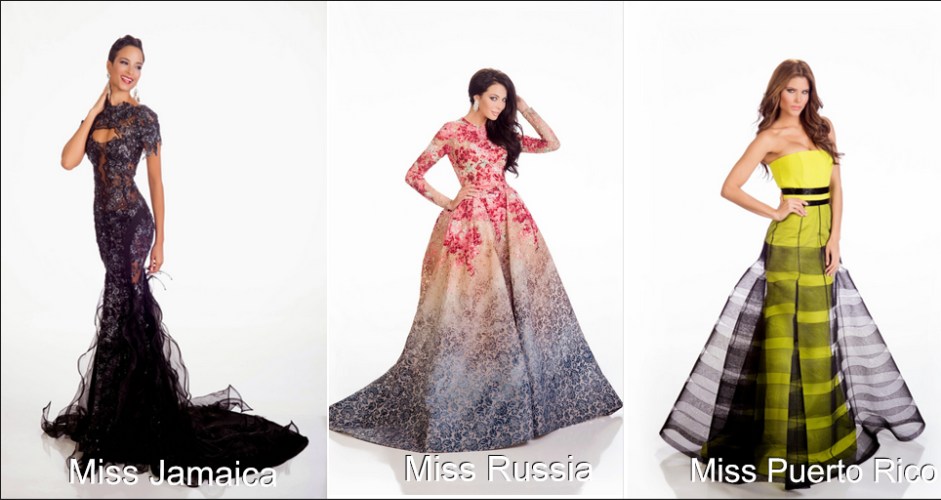 Miss Universe 2014/2015: Vote For Your Favorite Evening Gown - That ...