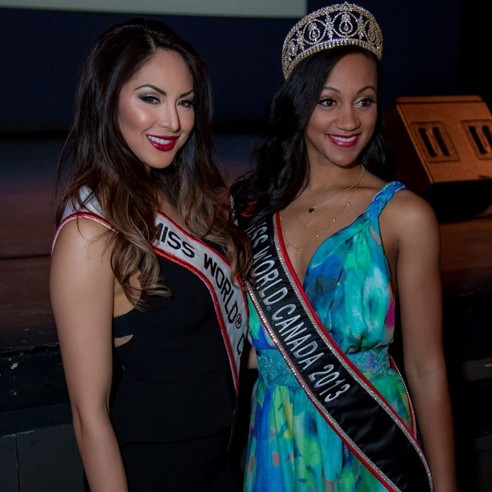 Riza Santos - Miss World Canada 2011 and Camille Munro - Miss World Canada 2013