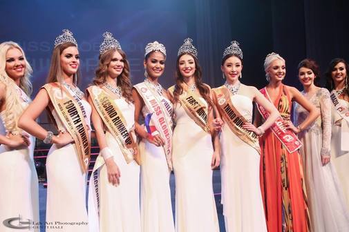 Miss Philippines Anne Lorraine Colis Winner of Miss Globe 2015 and her runners up