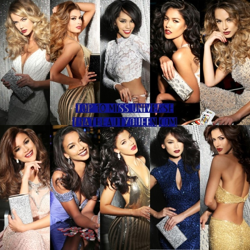 Top 10 Miss Universe 2015 : USA, Colombia, Japan, Thailand, Australia, Dominican Republic, France, Curacao, Philippines, Venezuela