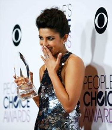 Chopra after winning the People's Choice Award for ABC hit series Quantico