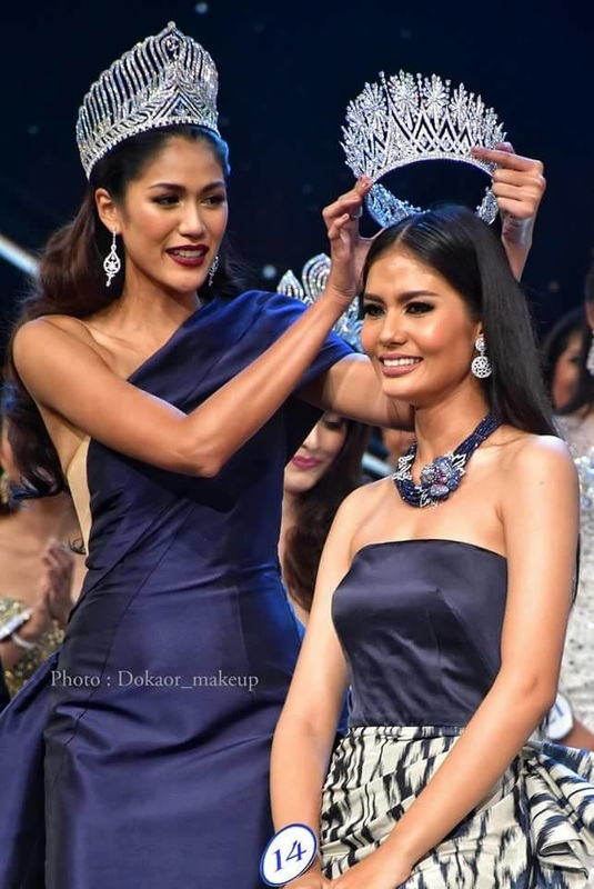Aniporn Chalermburanawong crowns Chalita Suansane as miss universe thailand 2016
