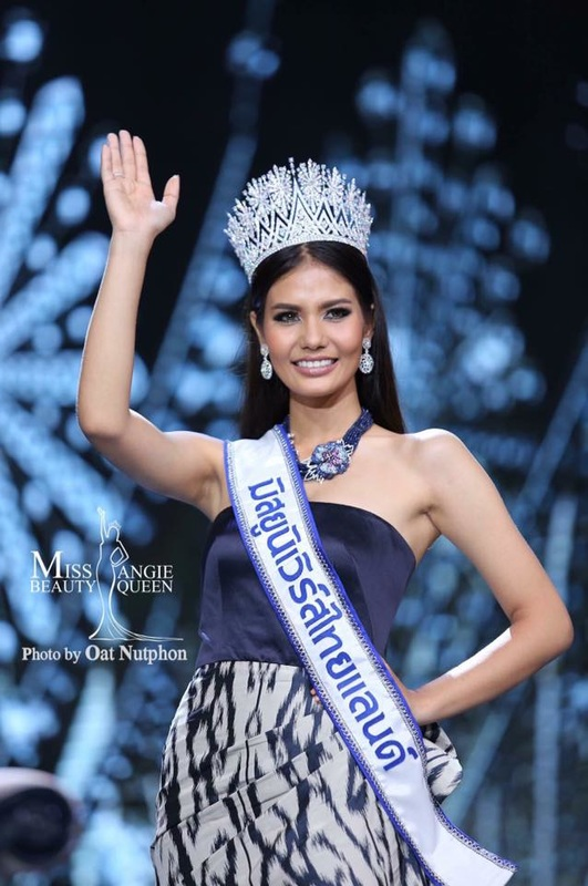 Chalita Suansane Miss Universe Thailand 2016 takes her first walk and victory wave