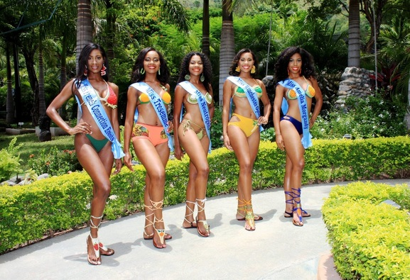 iss Jamaica World Contestants (from Left) Ashlie White Barrett-Miss French Connection Events; Latoya Spence-Miss Tresemme; Chevaneese Brown-Miss Neutrogena; Gillian Parague-Miss Winchester Medical and Allison Johnson-Miss Amelia Morgandy.
