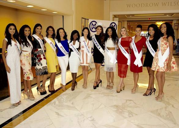Some delegates of Miss World America 2016 currently in Washington D.C for the grand finale